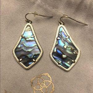 Kendra Scott Alex Gold Drop Earrings in Abalone